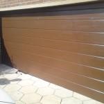 Pkeliami garažo vartai,rudi